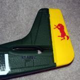 The bright distinctive yellow rudder.