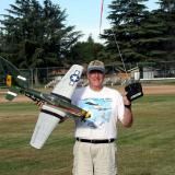 The author, Michael Heer, with the new brushless powered ParkZone RTF Mustang