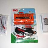 The charger and battery pack supplied by GWS to use with the Slow Stick.