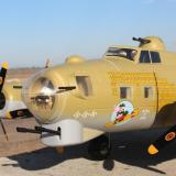 A bigger view of the nose and front of the plane.