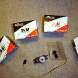 The kit called for 2 Hitec 81 servos and 2 Hitec 55 servos.