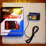 The Hitec HFS-05MG, single conversion 5 channel receiver, but I got the wrong crystal!