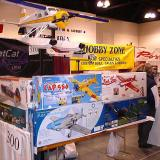 A vendor with a variety of kits for sale.