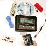 The complete kit contents, picture from Eagletree's website. The basic Glide unit includes three feet of Pitot Tube hose, metal Pitot Tube, battery Y connector, USB cable, windows CD and an operating manual.