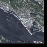 Ketchikan Alaska where we docked at N 55:20 3050/W131:38 5740