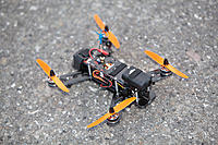 Name: qav250-with-fpv.jpg Views: 4299 Size: 131.5 KB Description: Prototype fully loaded with FPV gear, just over 500g.