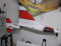 Name: DSCF3092.jpg Views: 96 Size: 145.4 KB Description: The left wing installed and set up to dry.