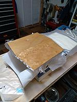 Name: june29 hardtop fiberglassed.jpg Views: 12 Size: 3.59 MB Description: and fiberglassed.  I'll flip the cabin over and glass the underside as well