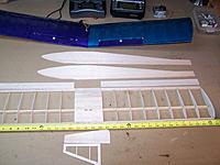 Name: 100_0917.jpg Views: 58 Size: 182.4 KB Description: New flater wing and longer nose in the fuselage for better balancing on the electric conversion.