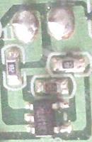 Name: V911-Charger01-PullupU2.jpg Views: 90 Size: 8.0 KB Description: U2 circuit +5v on right, LED on top,  SeriesResistor Left PullupResistor to +5v right-middle, DriverOutput UpperLeftPin