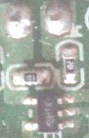 Name: V911-Charger01-PullupU1.jpg Views: 92 Size: 6.9 KB Description: U1 circuit +5v Left, LED top, series resistor right, pullup resistor left, goes under U1 to bottom right pin