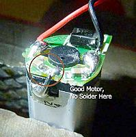 Name: RC-GoodMotor.jpg Views: 62 Size: 26.5 KB Description: Wire soldered to motor case