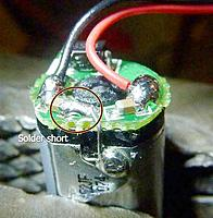 """Name: RC-BadMotor.jpg Views: 56 Size: 26.0 KB Description: Wire soldered to motor case (I think the """"solder short"""" is really OK."""