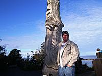 Name: germany2012 028.jpg Views: 93 Size: 87.4 KB Description: Pic of the day. Me standing next to the totally carved up piece. It was pretty tall, maybe 15 feet or so. This was on our day off, sunny, no wind....