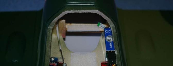 If you'd like to add a rudder, Alfa has reserved a place to mount the servo. I opted to put my receiver there instead.