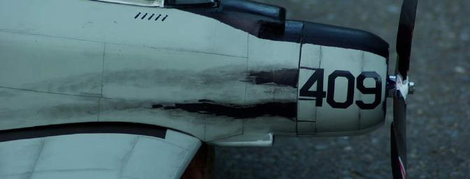 Trademark engine exhaust stains. It has been said that if a pilot walked up to a Spad and there was no oil pooled up on the ground underneath it, he wouldn't go up in it.