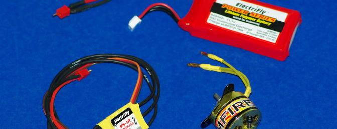 The matched outdoor power system for the Pluma, by Electrifly