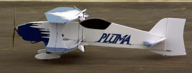 And with one final wave of the ailerons, my Pluma took to the skies for the first time