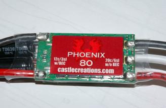 Castle Creations Phoenix 80 Speed Controller (Provided by Castle for this review)