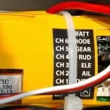 A true six channel receiver and three wire servos. The low voltage cutoff on the electronic speed control is also lipo programmable.