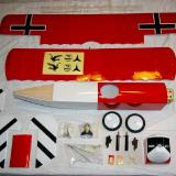 The entire D.VII kit laid out prior to assembly