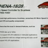 Basic Specifications for the Athena 28 Speed Controller