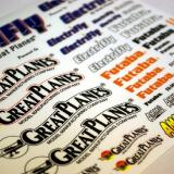 Colorful sheet of decals included