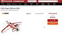 Name: FMS Flash 850mm PNP  TowerHobbies.jpg Views: 43 Size: 85.8 KB Description: