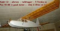 Name: Senior  Kadet 41 tex 2.jpg Views: 232 Size: 30.7 KB Description: Kadet Sr - ailerons - 5Fut servos -  Fox 40 BB -  Only 8 flites on it !