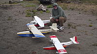 Name: DSCF1097.jpg Views: 21 Size: 603.1 KB Description: Rick with his Large LakeMaster next to Ivan's original.