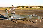 Name: Hunter thumbs up.jpg Views: 4612 Size: 9.8 KB Description: A relieved Keith Mitchell, owner and builder after first successful test flight, culmination of 6 years building.