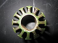 Name: IMG_1019.jpg Views: 115 Size: 125.1 KB Description: 12-stator, unwound quite successfully and without damage. I used an ultrasonic bath to loosen the stator from the blue body.
