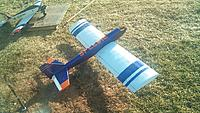 "Name: DSC_4263.jpg Views: 294 Size: 180.0 KB Description: 1980's Hurricane 40L 60"" (1540mm)wingspan .46 Nitro, 2800g, 44""L (1120mm),668sqin(43dm2)wingarea"
