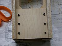 Name: 10.jpg Views: 62 Size: 80.3 KB Description: 1/4 inch plywood engine mounting plate attached to engine rails.  Since the rails were already drilled the trick was to drill the plate to fit the already finished holes