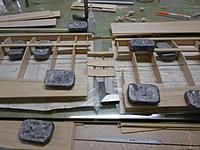 Name: 93.jpg Views: 58 Size: 107.6 KB Description: Right and left wing are both finished to same point, now I have to do sheeting.  All doublers and joiners laminated and test fit