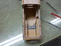Name: Image00001.jpg Views: 64 Size: 149.6 KB Description: Front hatch removed original fuselage crutch with blind nuts countersunk to allow engine plate to sit flush on top