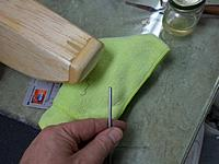 Name: Image00010.jpg Views: 72 Size: 160.1 KB Description: Had to fabricate front attachment out of 5/32 wire.  Raw cut end