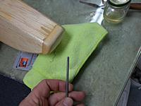 Name: Image00011.jpg Views: 63 Size: 139.6 KB Description: Wire after a minute on the grinding wheel