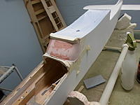 Name: SAM_0494.jpg Views: 64 Size: 57.5 KB Description: Second coat of Bondo set and sanded, third layer applied starting to set