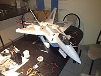 Name: 019.jpg Views: 383 Size: 75.0 KB Description: Here is the jet on the dry try before I glue it.