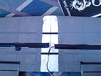Name: IMG_20120616_142112.jpg Views: 128 Size: 175.3 KB Description: Wing with Nylon spacers at the front that are angled in and cut off flush to allow the Wing to be slid onto the wooden dowels then bolted at the back.