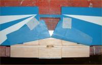 Name: Cub wing-3.jpg Views: 194 Size: 51.5 KB Description: The touque rods were glued into place & stips of scrap balsawood located ontop. These were then carefully sanded flush with the wings surface.