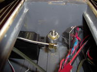 Name: Dodge 297.jpg Views: 226 Size: 66.7 KB Description: The tiller arm is supposed to operate the horn button.  Because I installed the KB doubler wrong, the switch is a little too far away.