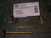 Name: IMGP3443.jpg Views: 337 Size: 270.6 KB Description: The Dumas hardware kit and the MACK SB-4 stuffing tube, prop and shaft that I'll be using.