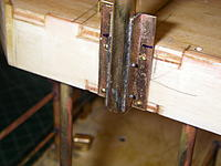 Name: IMGP4314.jpg
 Views: 76
 Size: 169.8 KB
 Description: Detail of mast hinge bracket.