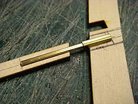Name: IMGP5180.jpg Views: 124 Size: 446.8 KB Description: Rather than use a brass pin to locate the keel shoe, I used some square brass tube.