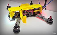 Name: DSC_0013.JPG Views: 513 Size: 157.9 KB Description: Using Runcam mount holes - tilt and tighten.  Can be modded for servo stabilized tilt