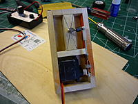 """Name: P1010350.jpg Views: 37 Size: 202.4 KB Description: I built a self contained box for the steering. 1/8th ply. 1/4"""" bass wood on sides and 1/2"""" for the hard point. I also installed a metal gear servo."""
