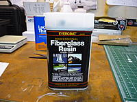 Name: P1010655.jpg Views: 235 Size: 260.1 KB Description: This is the resin I chose. I have tried some other polyester resins but they never seamed to harden completely? This one worked well.