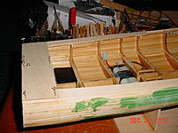 Name: 91 Orca project 23 Dec 2012.jpg Views: 200 Size: 206.8 KB Description: worked on transon decking and bullpit gunwell, and started pudding hull.